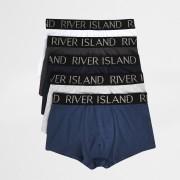 River Island Mens Blue RI waistband hipster 5 pack (XS)
