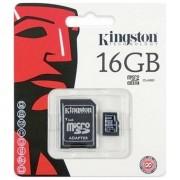 Kingston Memory Card Microsd Hc 16 Gb + Adattore Classe 10 Per Modelli A Marchio Gopro
