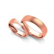 Exkluzivní snubní prstýnky 0,030 ct s diamantem šířka 5 mm STOBR263R