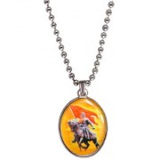 Men Style Chhatrapati Shivaji Maharaj Multicolor Stainless Steel Oval Pendent For Men And Women