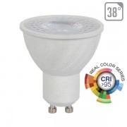 LAMPADINA LED GU10 SMD 6W 38 GRADI BIANCO CALDO CRI 95 VT-2206-LED7497