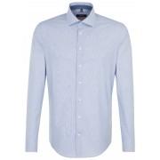 Seidensticker Overhemd Soft Stripe Spread Kent Donker Blauw / male