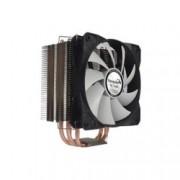 Охлаждане за процесор Gelid Solutions Tranquillo CC-TRANQ-04-B, съвместимост с AMD: AM2/AM2+/AM3/AM3+/AM4/FM1/ FM2/FM2+ Intel: 775/1150/1151/1155/1156/1366/2011(+Mounting clip), черен