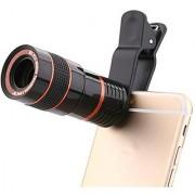 8X Zoom Lens Mobile Phone Telescope F18 mm 16 Degree Colour Black
