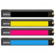 HP 973X (L0S07AE t/m F6T83AE) inktcartridge multipack (huismerk inktcartridges)