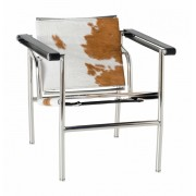 Replica Le Corbusier chair LC1 with Brown Pony/Cowhide leather