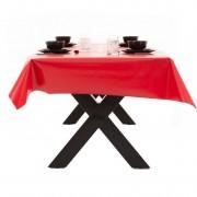 Merkloos Buiten tafelkleed/tafelzeil rood 140 x 250 cm rechthoekig
