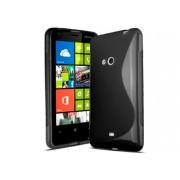 Силиконов гръб ТПУ S-Line за Nokia Lumia 625 Черен