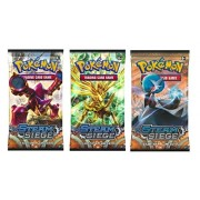 Wpn-Pokemon Pokemon Trading Card Game, 3 Packs Steam Siege Booster Pack, 30 Additional Cards