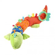Tomtopp Cute Plush Infant Baby Soft Crocodile Rattles Sound Bell Development Toys