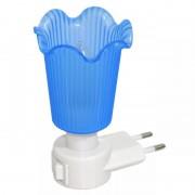 Lampa de veghe albastru cu intrerupator