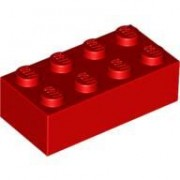 Bulk Lot of 2x4 LEGO Brick (Red)