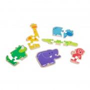 Primul meu puzzle Animale vesele Beleduc, 6 animalute