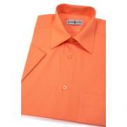 Pánská košile KLASIK krátký rukáv Pomerančová 351-10-39/182