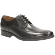 Clarks Kalden Vibe Black Leather lace up For Men(Black)