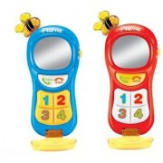 Emob Early Childhood Battery Operated Mobile Phone Learning toys with Music and Lights (Multicolor)