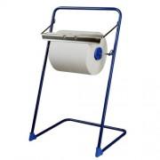 Odvinovač kovový stojanový pre utierky v roli, modrý [1 ks]