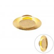 QAZQA Nowoczesny okrągły plafon złoty zawiera LED - Sun
