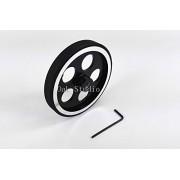 Generic 6mm bore : 2pcs/lot, 65mm encoder gauge meters wheel,with Rubber and Alloy,robot wheel,Smart Car wheel,DIY car,robotic Design,