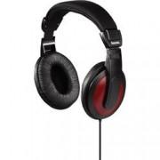 Hama Hi-Fi sluchátka Over Ear Hama Basic4Music 184012, černá, červená