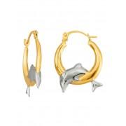 KLiNGEL Créoles dauphin KLiNGEL Coloris or jaune