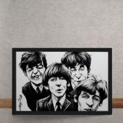 Quadro Decorativo Beatles Caricatura 25x35