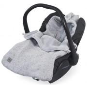 Sac de dormit tricotat Jollein Confetti pentru scaun auto si carucior 025-811-65139, Bumbac (Gri)