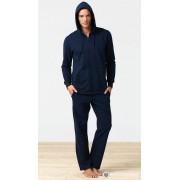 BlackSpade Теплая мужская толстовка на молнии синего цвета Blackspade b7305 Navy