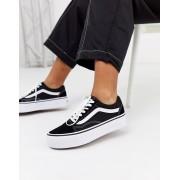 Vans Old Skool black platform trainers - female - Black - Size: 9