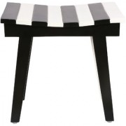 SMALSHOP Fellini Backhouse Ergonomic Stool Black and White (17 X 11 X 16.5)