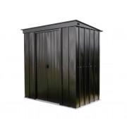 Spacemaker Metallgerätehaus 6x4 Pultdach onyx schwarz, 208 x 130 x 201 cm