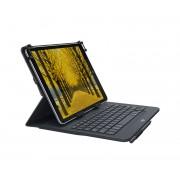 Logitech Universal Folio Bluetooth QWERTY US International Black mobile device keyboard