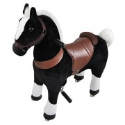 Mechanical Riding on Black Horse Toy Simulated Horse Riding on Toy Ride-on Pony Cycle :More Comfortable Riding with Gallop Motion for Kids 3-6 Years