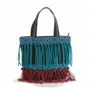 LA REDOUTE COLLECTIONS Handtasche mit Perlen und Stickerei, Baumwolle