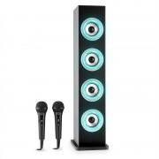 Auna Karaboom LED boxe Bluetooth USB AUX VHF Karaoke microfon 2 x (CS11-Karaboom LED BL)