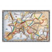 Joc de societate Ticket to ride Europa, tabla de joc cu harta Europei, 15 gari, 240 vagoane, 158 carti de joc