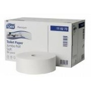 Essity Professional Hygiene Germany GmbH Tork Premium Toilettenpapier - Jumbo Rolle, 2 lagig hochweiß - weich, 1 Paket = 6 Rollen à 360 m, Ø 26 cm