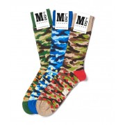 MrD London [3 Packs] Assorted Camouflage Socks B19-002