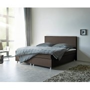DELIFE Boxspring-bed cloud 180x200 cm bruin topper en matras