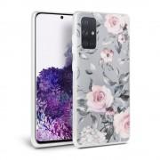 TECH-PROTECT Ochranný kryt na Samsung GALAXY A71 A715F - Tech-Protect, Floral Gray
