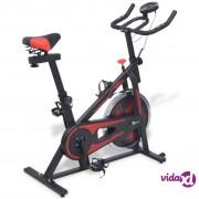 vidaXL Sobni Bicikl sa Senzorima Pulsa Crno i Crveno