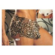 Gyz Soft & Supple Poly/Spandex Fitted Boxer Leopard 407