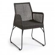 Kave Home Cadeira Kavon cinzento , en Tecido - Cinzento