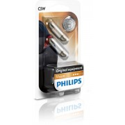 Becuri auto Philips Vision 12V C5W SV8.5 5W 11x35mm alb tip sofit Kft Auto