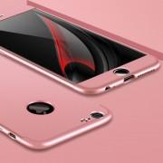 GKK Para El IPhone 6 Y 6s PC Tres - El Escudo De 360 Grados De Cobertura Protectora Caso Cubierta Trasera (Dorado Rosa)
