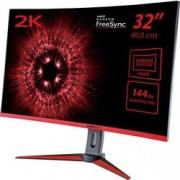 Hannspree LED monitor Hannspree HG324QJB, 81.3 cm (32 palec),2560 x 1440 px 2 ms, IPS LED HDMI™, DisplayPort, mini DisplayPort, audio, stereo (jack 3,5 mm), na