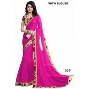 New Designer Saree Pink Printed Art silk Saree