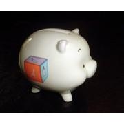 """Babies First Ceramic Piggy Bank (3"""" X 3"""")"""