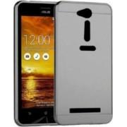 Husa Bumper Aluminiu Mirror Gri Iberry Pentru Asus ZenFone GO 4 5 Inch ZC451TG