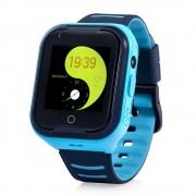 Ceas Inteligent pentru copii WONLEX KT11 4G Albastru, cu GPS, apelare video, rezistent la apa, localizare WiFI si monitorizare spion